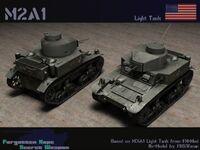M2a1 tank