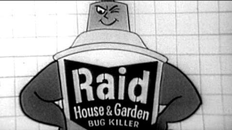 Commercial - Raid House & Garden Bug Killer w Mel Blanc - S.C. Johnson Wax