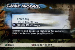 FIFA Street 2 Game Modes Skilss Challenge