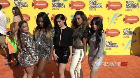'Fifth Harmony' so stunning! Nickelodeon's 28th Annual Kids' Choice Awards Orange Carpet