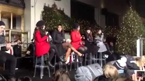 """Fifth Harmony Performs """"Mistletoe"""" Toe by Justin Bieber LIVE"""