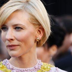 Cate Blanchett (wearing her