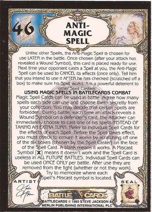 46 Anti Magic spell US back