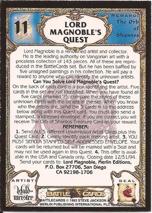11 Lord Magnoble's quest US back