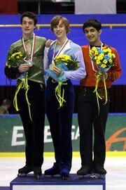 2007-2008 JGPF Men's Podium