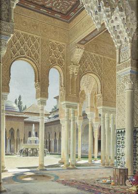 File:Adolf Seel Innenhof der Alhambra.jpg