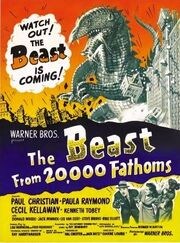 Beast from 20,000 Fathoms poster