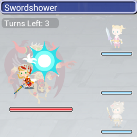 The Onion Knight using Swordshower.
