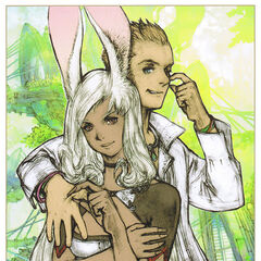 Balthier and Fran artwork by <a href=