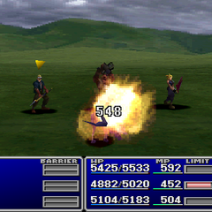Barret using Slash-All with a Gun-Arm.