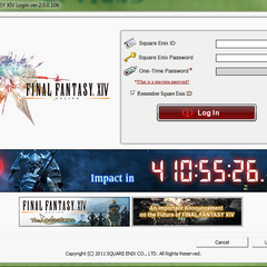Countdown for the meteor impact (November 11th) on the <i>Final Fantasy XIV</i> game launcher.