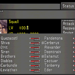 The third Status Screen, showing off GF Compatibility with the current character.