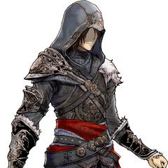 Noel's Ezio Auditore DLC outfit.
