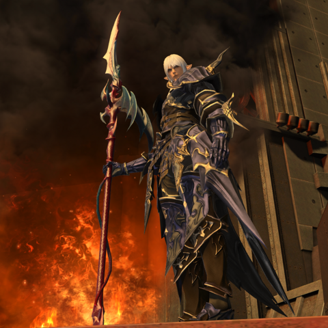 Estinien in <i>Stormblood</i>.