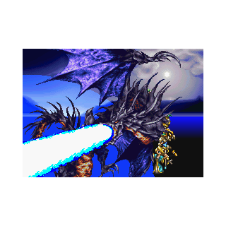 Bahamut being summoned.