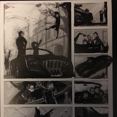 Childhood sketch concept arts featuring Regalia.