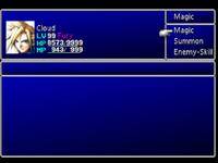 FFVII Magic Menu 1