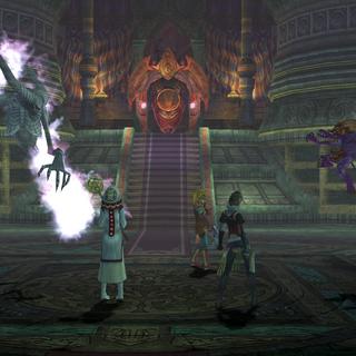 Battle scene in the temple.