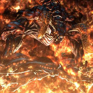 Ifrit in <i>A Realm Reborn</i> cutscene.