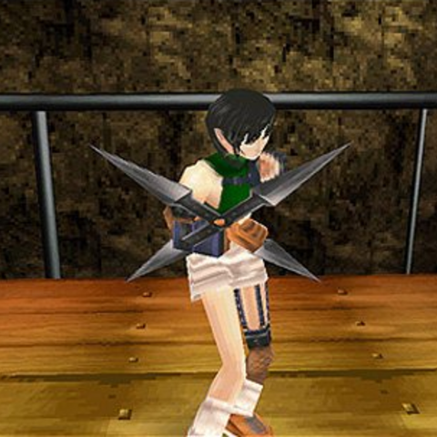 Yuffie's in-game model.