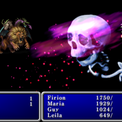Death cast on the enemy party in <i>Final Fantasy II</i> (PSP).