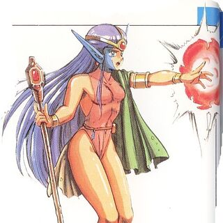 <i>The Final Fantasy Legend</i> Female Mutant Artwork.