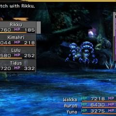 <i>Final Fantasy X</i> party selection screen.