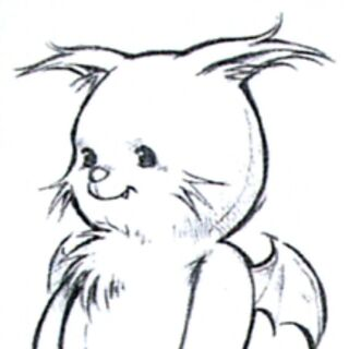 Alternate concept art of MiniMog for <i>Final Fantasy VIII</i> by Tetsuya Nomura.
