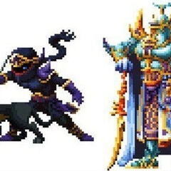Shadow and Exdeath.