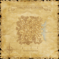 The map of Yahse Hunting Grounds.
