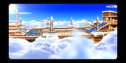 Mario Hoops airship