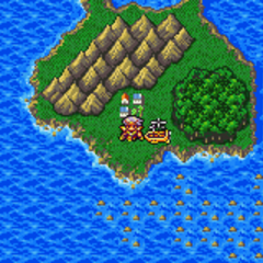 Mythril on the World Map (GBA).