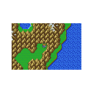 The Pirates' Hideout on the World Map in Bartz's World (GBA).