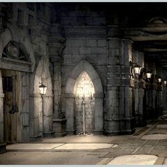 Concept artwork of a hallway.