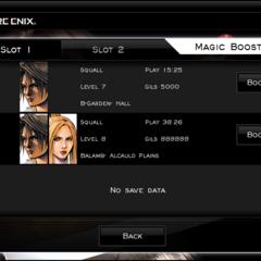The Magic Booster menu.