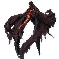 Unused concept artwork of an alternate Grim Reaper to be summoned during the final battle of <i><a href=