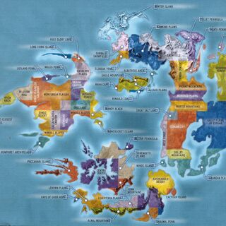 World Map Areas.