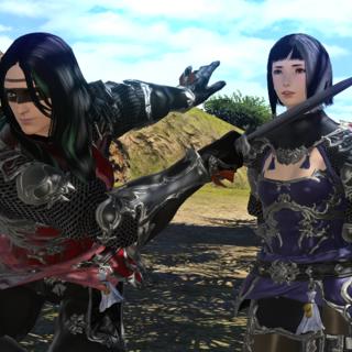 Karasu using Tsubame as a hostage.