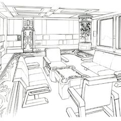 Waiting room concept art.