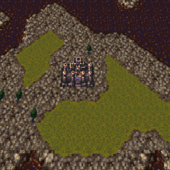 Doma Castle on the World of Ruin map (SNES).