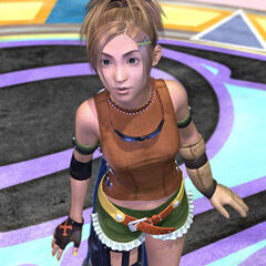 Rikku before fighting Sin.