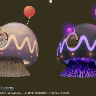 Moogle houses concept art.