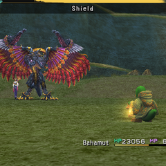 Bahamut using Shield.