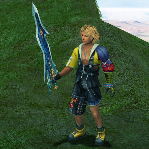 Tidus obtains the Caladbolg.