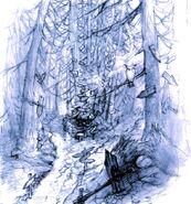 Black Mage Village Dead Forest FFIX Art