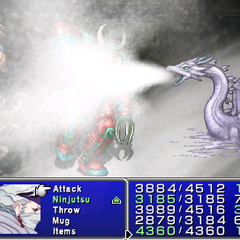 Mist Dragon being summoned (PSP).