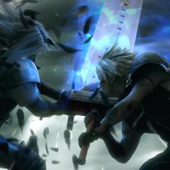 Sephiroth versus Cloud in <i>Advent Children Complete</i>.