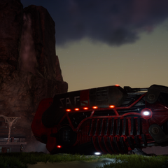 Aranea's red dropship.