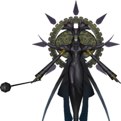 Eden's servant (black).