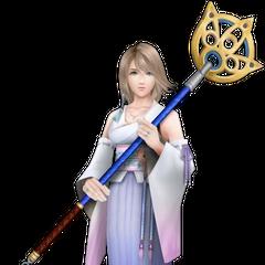 Yoshitaka Amano's Yuna render from <i>Dissidia 012 Final Fantasy</i>.